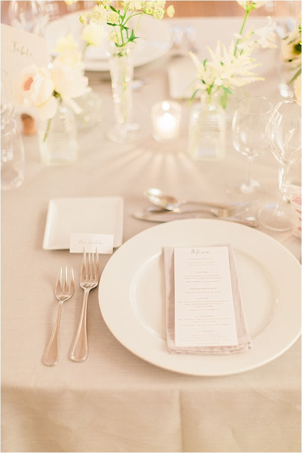White and Beige Placesetting