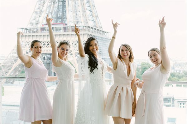 bridal party in Paris Images by Zackstories