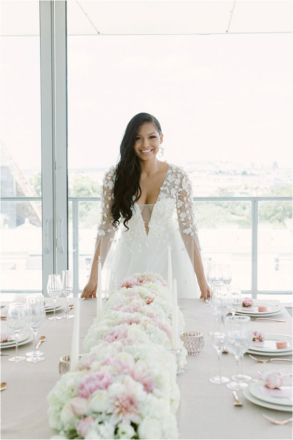chic white and pink wedding style Images by Zackstories