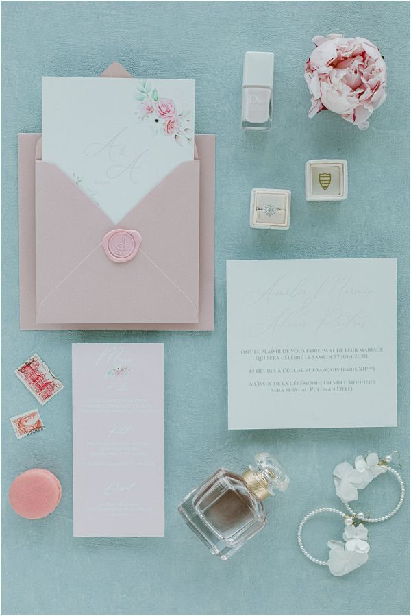 pastel pink wedding invites Images by Zackstories