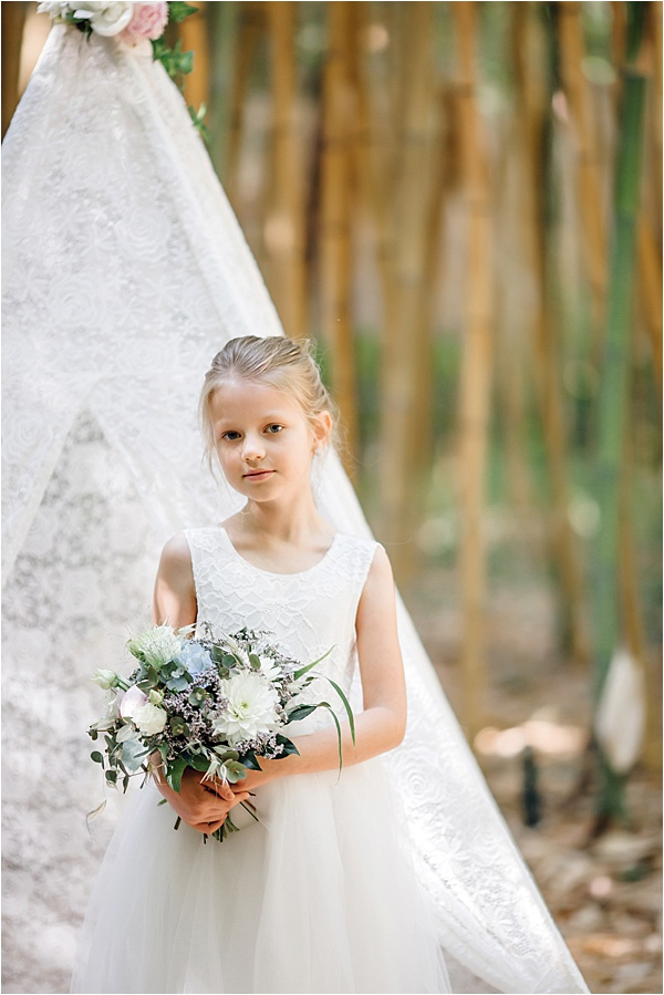 Adorable little bridesmaid