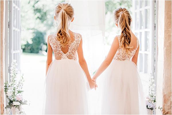 Adorable little bridesmaids