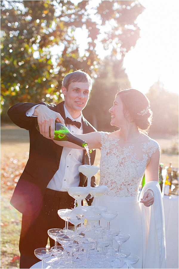 Beautiful champagne tower