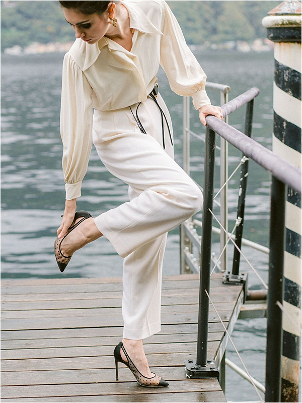 Bella Belle White Outfit Black Shoes  | Image by Laura Gordon