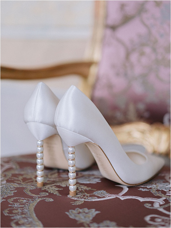 Bella Belle White Shoes Pearl Heels  | Image by Laura Gordon