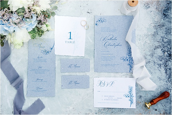 Bespoke Blue and White Stationary by Graphic Promise