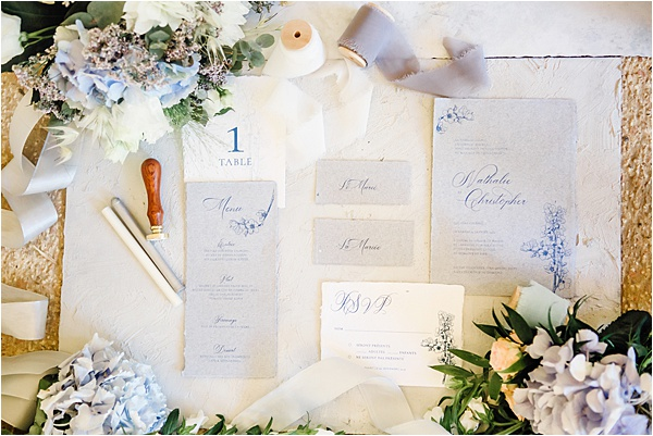 Bespoke White and Blue Stationary by Graphic Promise