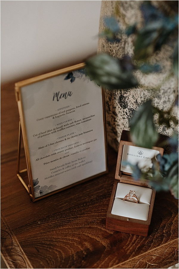 Bespoke wedding ring and stationary