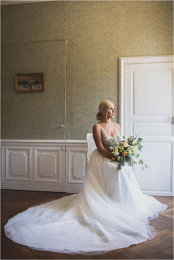 Bespoke white bridal dress