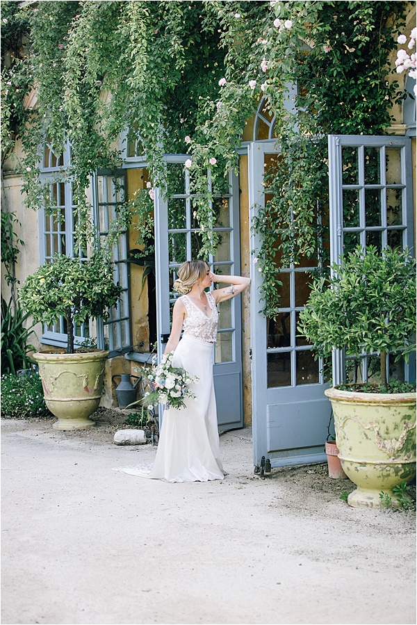 Bride Walking in the Garden