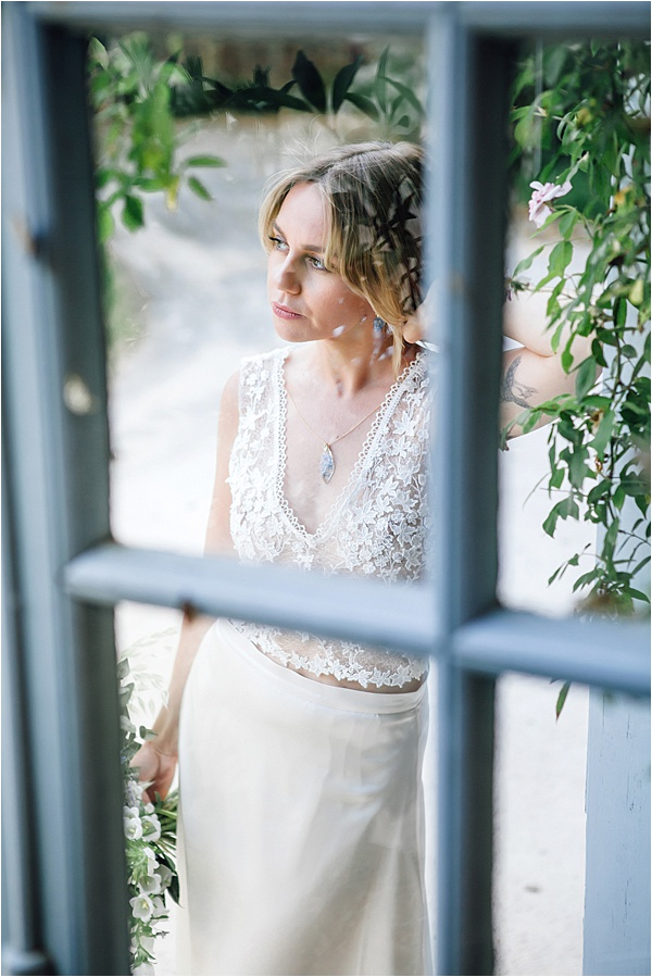 Bride in deep thought