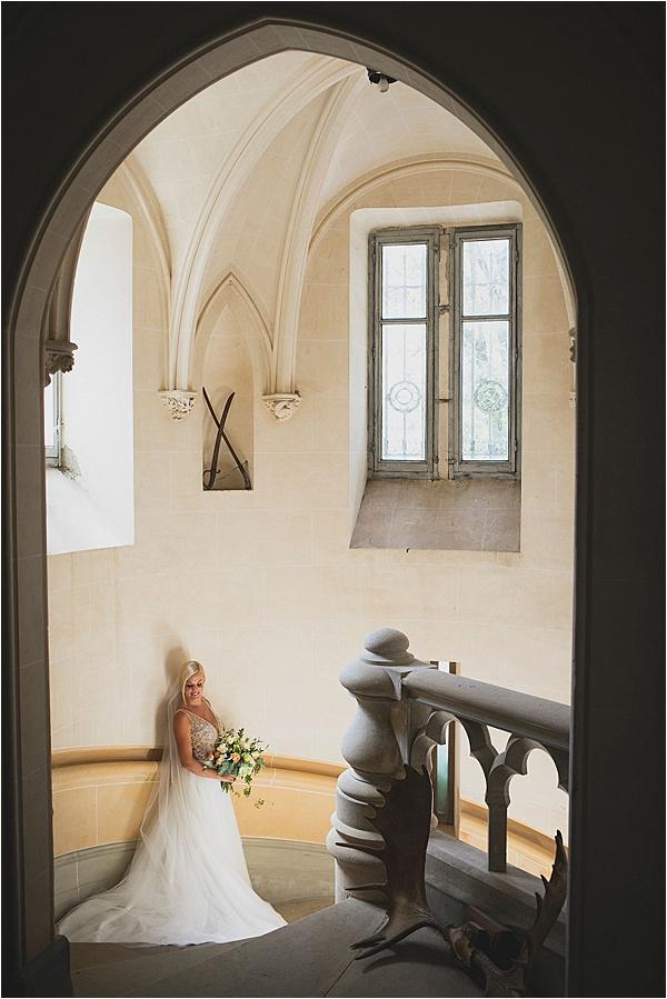 Chateau de la Laplanque stairwell