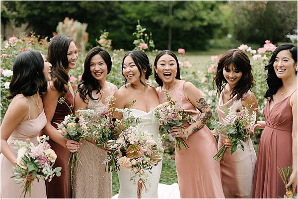 Chic Bridal Party for Chateau de Malliac Wedding