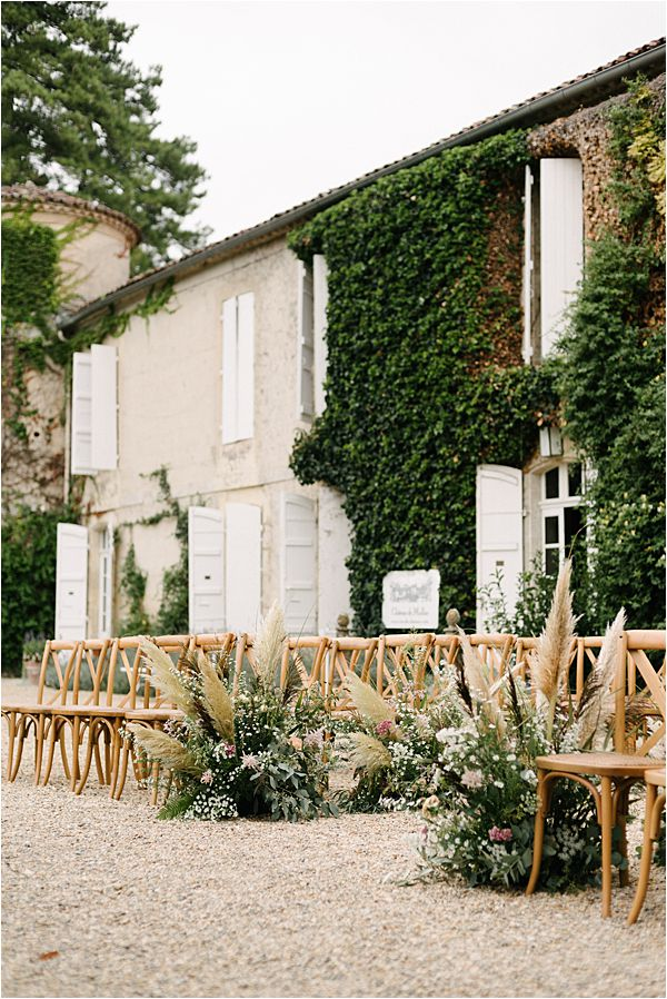 Chic Chateau de Malliac Wedding Ceremony