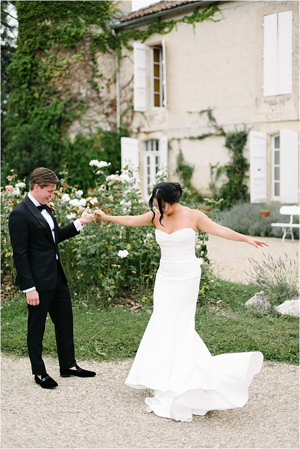 Chic Chateau de Malliac Wedding Couple