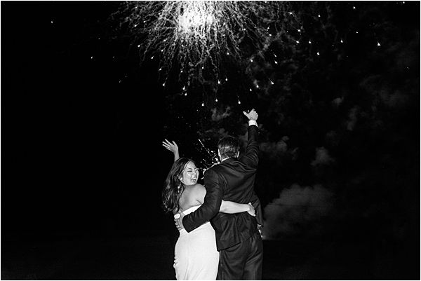Chic Chateau de Malliac Wedding Fireworks