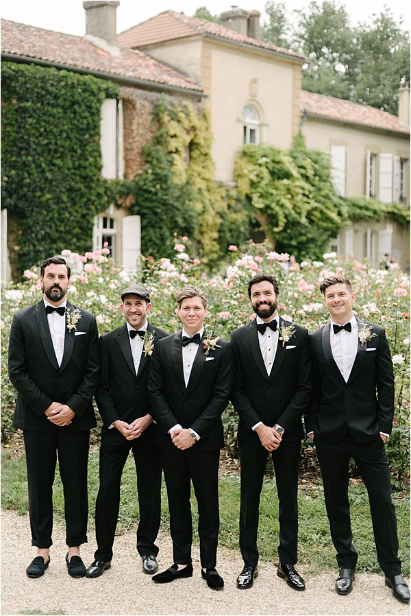 Chic Chateau de Malliac Wedding Groom