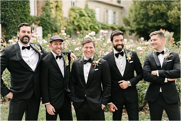Chic Chateau de Malliac Wedding Groomsmen
