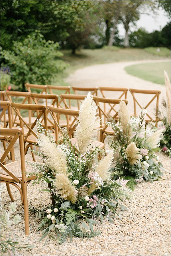 Chic Chateau de Malliac Wedding Service Florals