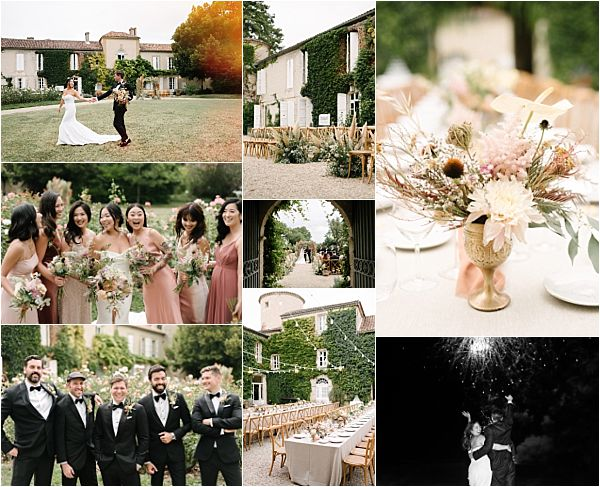 Chic Chateau de Malliac Wedding Snapshot