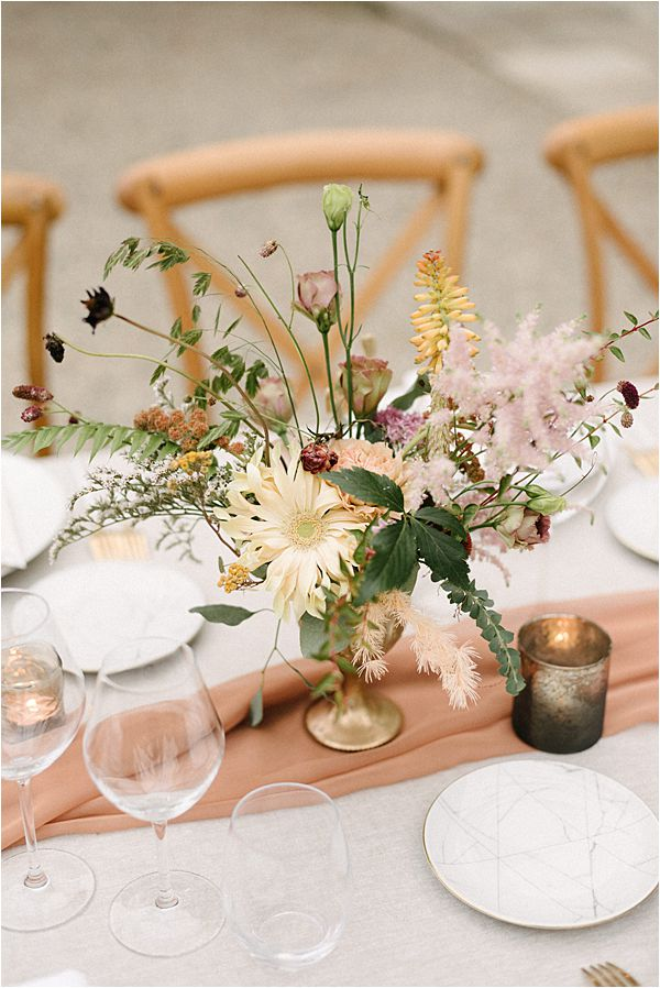 Chic Chateau de Malliac Wedding Table Centres