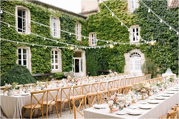 Chic Chateau de Malliac Wedding Tables