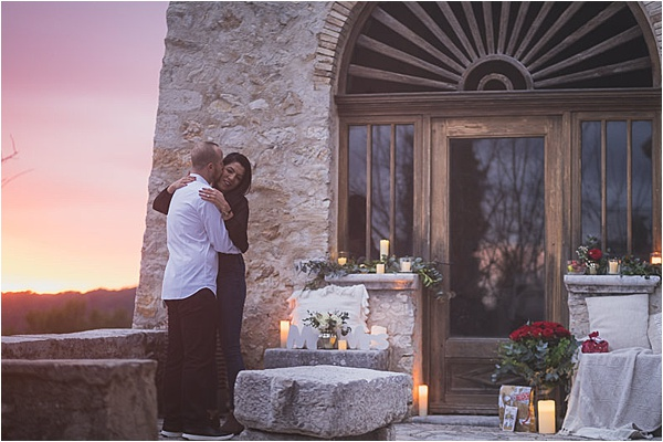 Cozy french riviera engagement