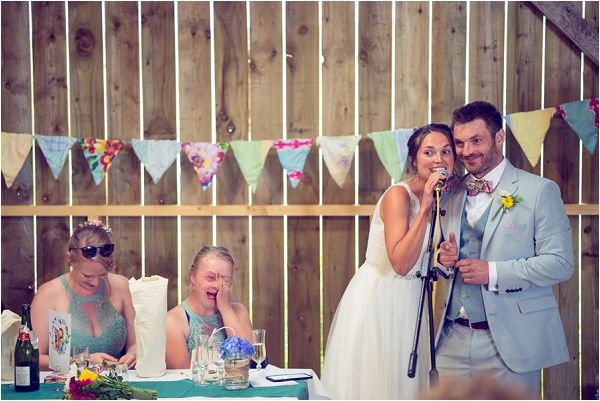 DIY bunting at a farm wedding | Photography by Wedding Fusion Imagery