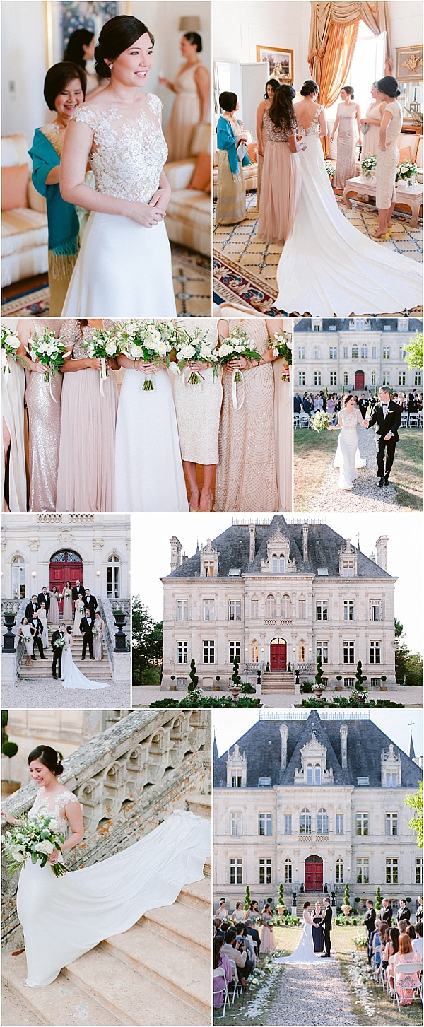 Delicate Chateau wedding in Southwest France Snapshot
