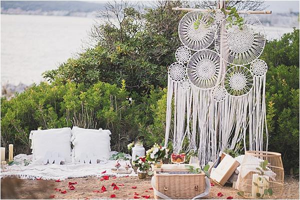 Fancy Picknic setup at the French Riviera