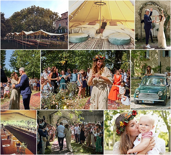 Festive style wedding at Chateau de Villeclare Snapshot