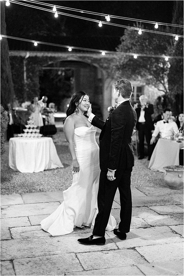 First Dance at their Chic Chateau de Malliac Wedding