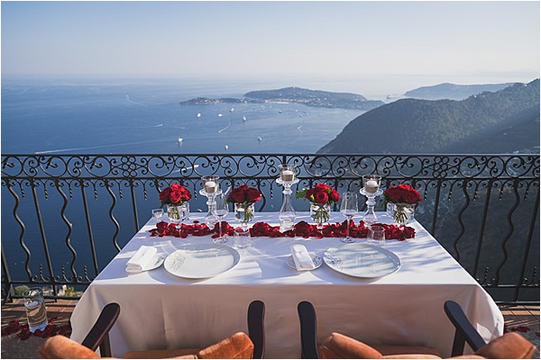French Riviera Private dinner tablesetting