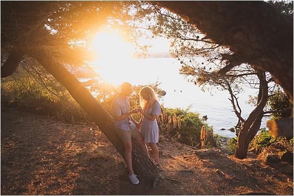 French Riviera Sunset Proposal