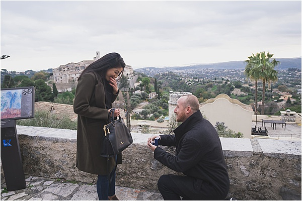 French Riviera is always a good place to propose