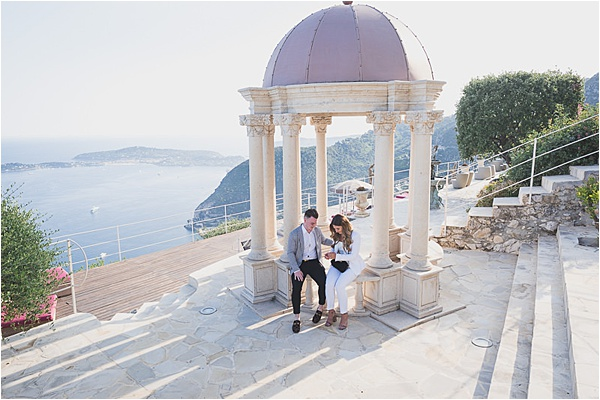 French riviera unveiling the engagement ring