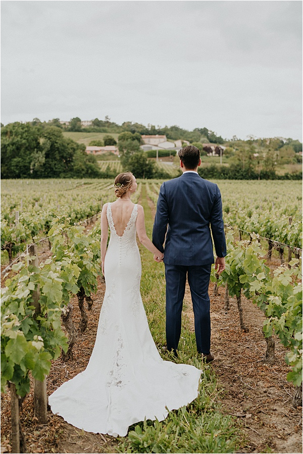 Newlyweds vineyard photoshoot