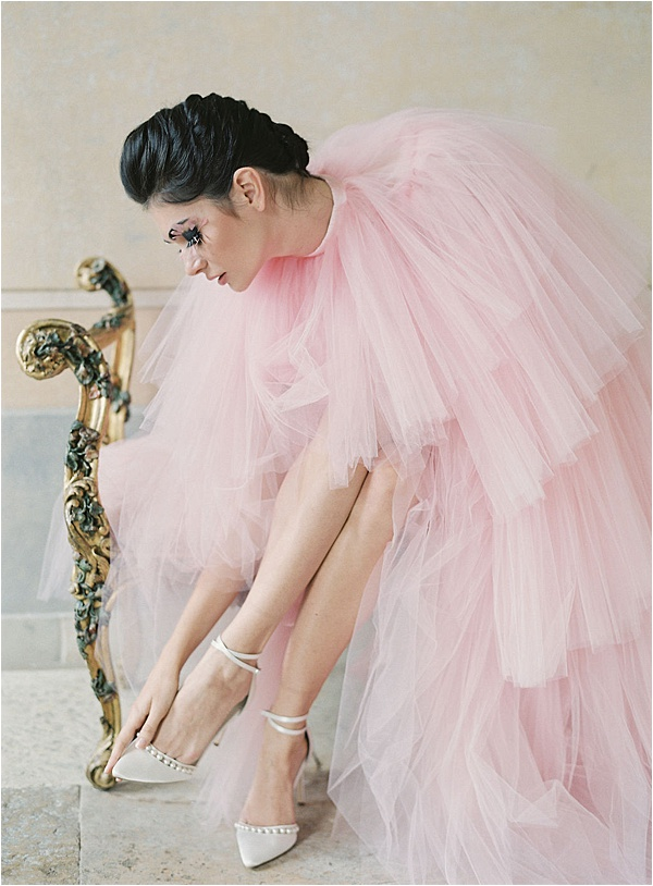 Pearl Bella Belle Shoes with Pink Dress | Image by Laura Gordon