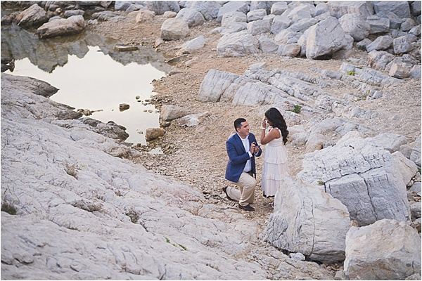 Popping the question at the french riviera