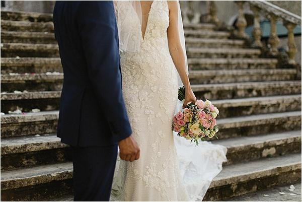 Pronovias Dress on the Quinta steps