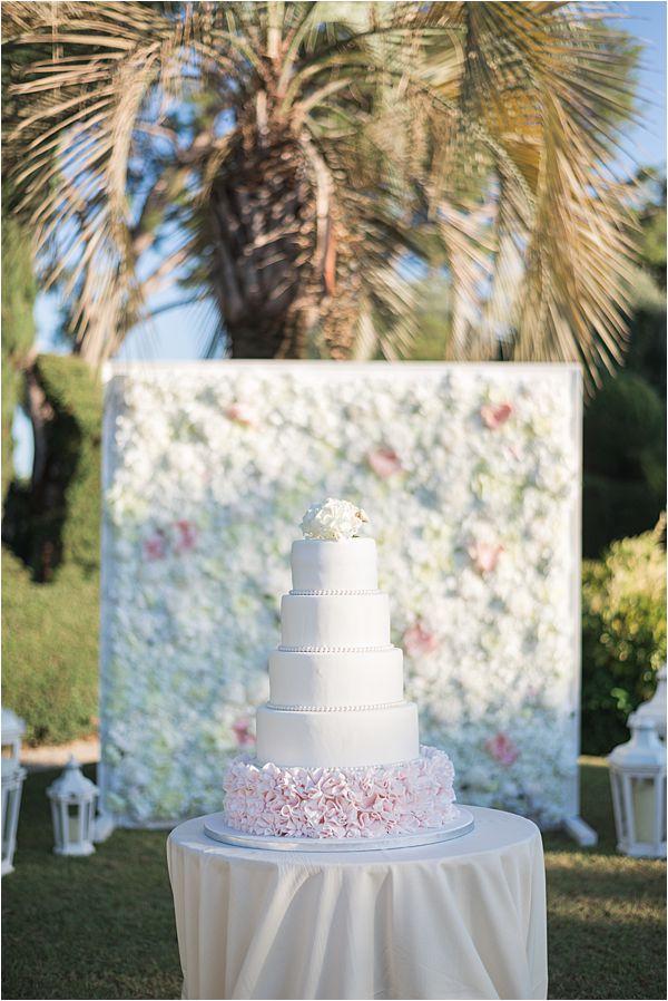 Villa Ephrussi de Rothschild wedding cake