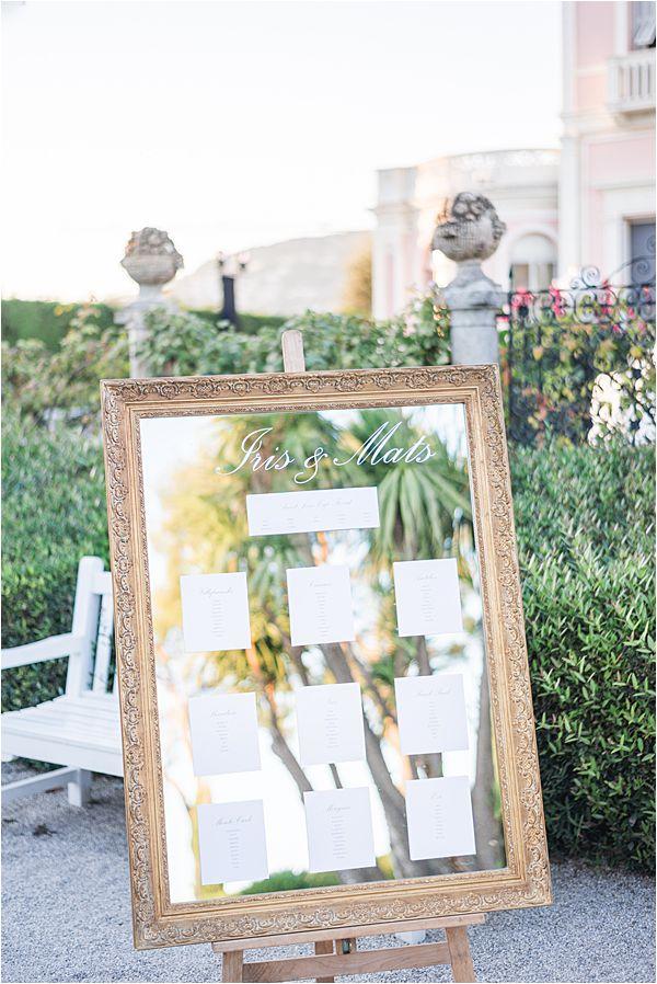 Villa Ephrussi de Rothschild wedding seating arrangement
