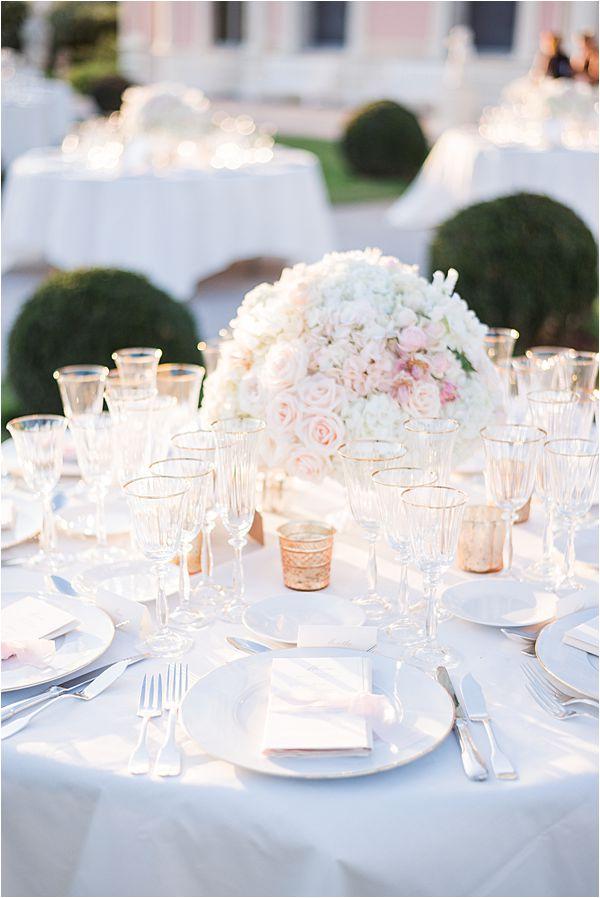 Villa Ephrussi de Rothschild wedding table centres