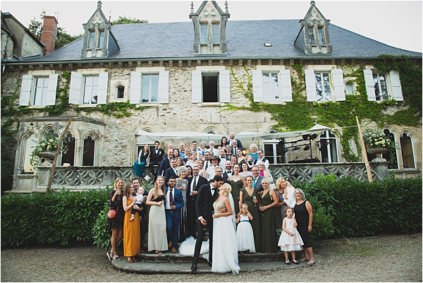 Weddin party Chateau de la Laplanque