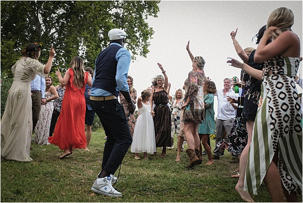 Wedding party dancing like there is no tomorrow