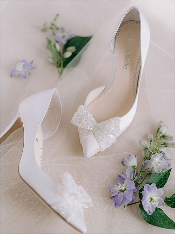 White Bella Belle Pearl Bow Shoes | Image by Laura Gordon