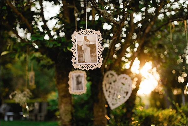 White Personalized decorations