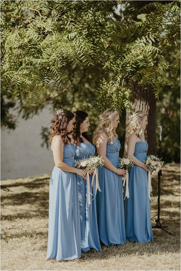 baby blue bridesmaid dresses | Images by Danelle Bohane