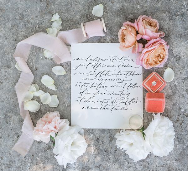 blush and peach wedding invites | Image by Cedric Klein