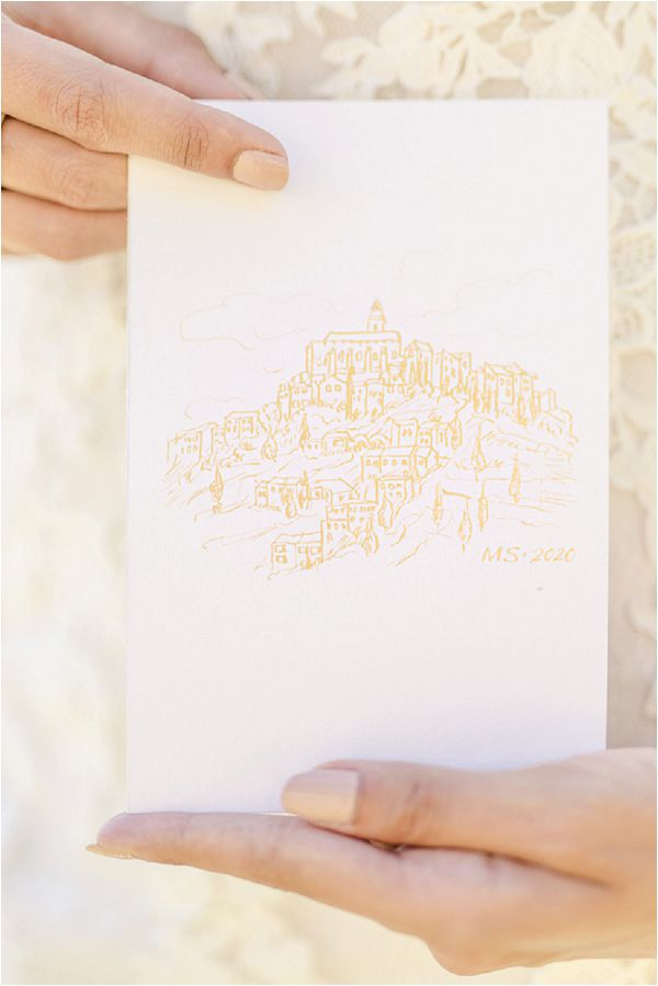 white and gold luxe wedding invite Images by Jeremie Hkb